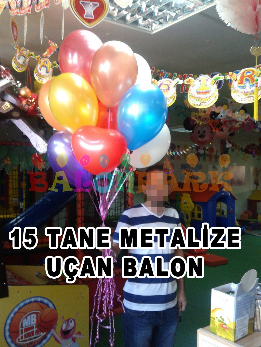15 uçan metalize balon