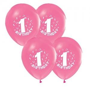 1 yaş pembe balon