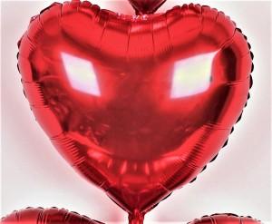 60 cm folyo kalp