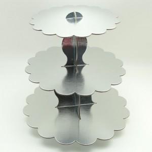 gümüş kek standı