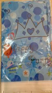 happy mavi masa örtüsü